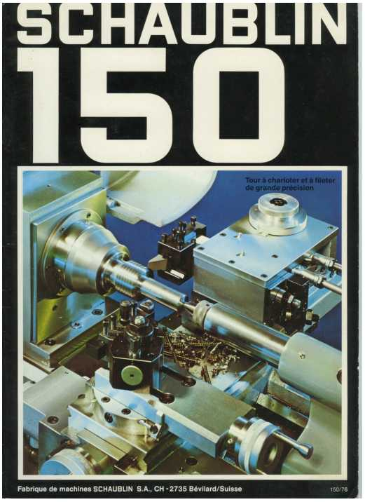 Schaublin 150 catalogue
